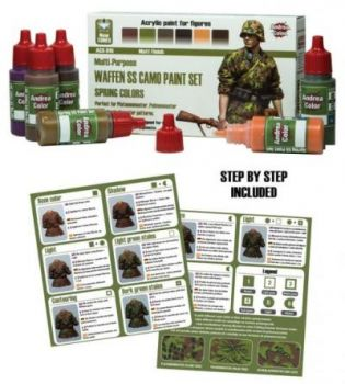 Waffen Camo Paint Set Spring Colours