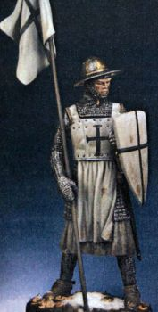German Knight with banner, 13th century